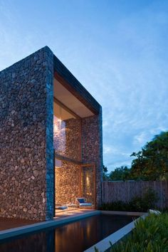House architecture modern stones Ideas for 2019 Beautiful Architecture, Contemporary Architecture, Art And Architecture, Facade Design, Exterior Design, Stone Facade, Stone Houses, Residential Architecture, Bungalows