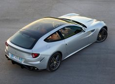 2013 Ferrari FF with panoramic roof - rear three-quarter overhead view