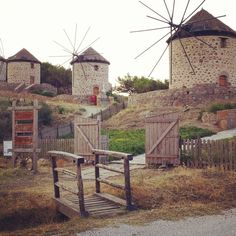 Lemnos, Lemnos, Greece — by Tanya Vitkova Greek Islands, Windmill, Homeland, Places To Go, Beautiful Places, Around The Worlds, Italy, House Styles, Holiday