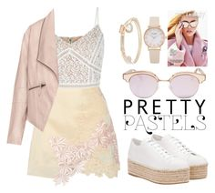 Pretty Pastels by teennetwork on Polyvore featuring polyvore fashion style Zizzi 3.1 Phillip Lim Miu Miu Lipsy Le Specs clothing