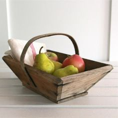 Small French Wooden Trug - Bayside Vintage