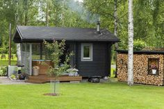 Sauna House, Outdoor Sauna, Terrace Garden, Pergola, Villa, Home And Garden, Shed, Cottage, Exterior