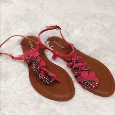 Coral Floral Sandals