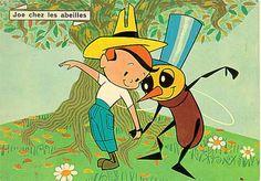 """""""Joe Chez les Abeilles"""" de Jean Image (1960), le dessin animé préféré de l'une de mes soeurs"""