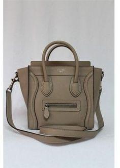 b166d941a5 Celine pristine (PR Dune Pebbled Leather Nano Messenger Bag - ShopStyle  Shoulder