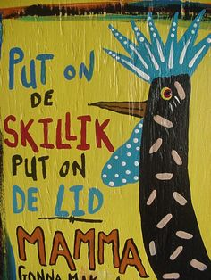 ROOSTER Painting..Chicken Cooking CORNBREAD.. Primitive Outsider folk art by WILLARDJ...L16. $27.50, via Etsy.