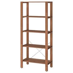 Refresh your home - IKEA - TORDH, Shelving unit, outdoor, brown stained, Outdoor Shelves, Outdoor Storage, Ikea Outdoor, Storage Benches, Indoor Outdoor, Wood Supply, Frame Shelf, Ikea Family, Iron Furniture