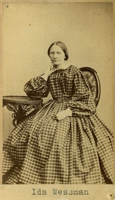 "Ida Wessman"", Swedish, 1860's (misdated by the museum). Bohusläns museum, nr. UMFA55052:0014"