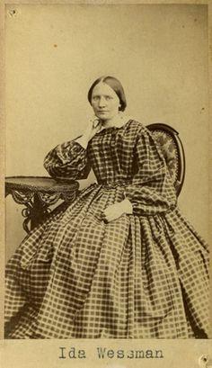 "Ida Wessman"", Swedish, 1860's (misdated by the museum). Bohusläns museum, nr. UMFA55052:0014"