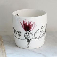 Anna Wright midlife crisis shaped fine bone china mug Anna Wright, Midlife Crisis, China Mugs, Mixed Media Collage, Bone China, Shapes