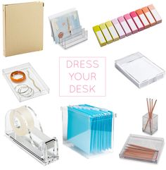 dress your desk.. acrylic accessories