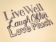 Live Laugh Love by Sean Wes #handlettering #ink #typography