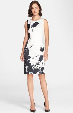 St. John Collection Tulip Print Satin Sheath Dress available at #Nordstrom | $995.00