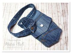 Eine Gürteltasche aus einer alten Jeans genäht – kreativ durcheinander Challenge #7