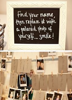 Non-Traditional Guestbook - Instead of a typical guestbook, why not ask guests to take pictures of themselves instead?