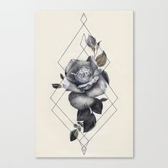 """""""Geo Rose II"""" Canvas Print by KitKing/CoreyPopp on Society6."""
