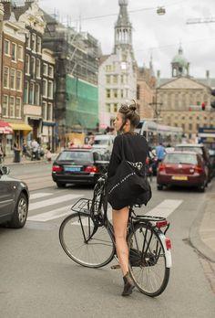 como os europeus andam de bike