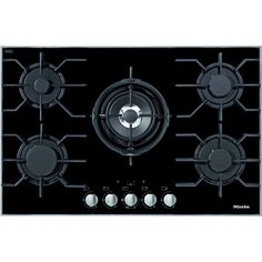 Miele KM3034 Stainless Steel and Glass 5 Burner Gas Hob