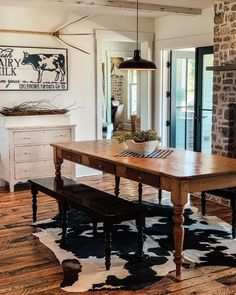 Dining Table, Rustic Farmhouse, Furniture, House Ideas, Home Decor, Decoration Home, Room Decor, Dinner Table, Home Furnishings