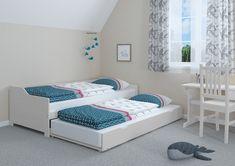 Sofabett mit zwei Schlafplätzen auch für unerwartete Gäste Toddler Bed, Furniture, Home Decor, Outfits, Wooden Double Bed, Bed With Drawers, Bed Frame, Bedroom, Child Bed