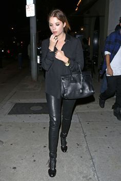 Ashley Benson Nigh Out Style - Out for Dinner at Craig's ...