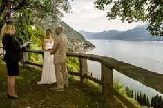 From USA to Italy Como Lake elopement wedding Lake Como Wedding, Elope Wedding, Elopement Wedding, Wedding Ceremony, Wedding Dress, Italian Wedding Themes, Lake Como Italy, Lake Photos, Outdoor Ceremony