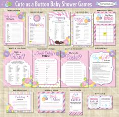 baby shower on pinterest a button baby shower games and baby shower