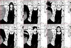 NaruHina, SasuSaku, ShikaTema, SaiIno, LeeTen and ChoKarui. Words can not describe how much I hate this. They are NINJA!!! Except now they are all just house wives.