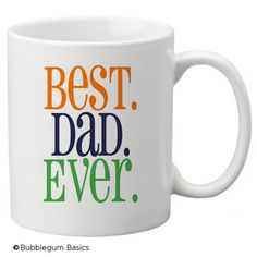 CUSTOM personalized Coffee Mug Cup for Kitchen or Home Best Dad Ever Any Colors, Saying or Monogram. $19.00, via Etsy.