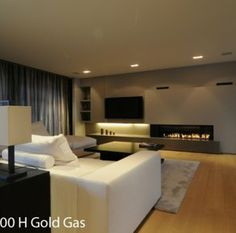 Tv and fireplace combi
