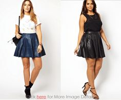 Women's Plus Size Leather Skirt: So High Fashioned