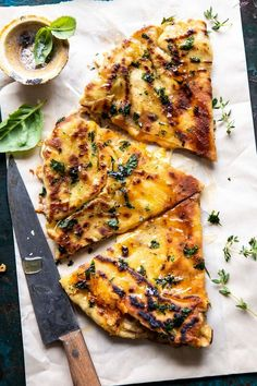 Garlic Naan Grilled Cheese | halfbakedharvest.com #naan #grilledcheese #easyrecipes