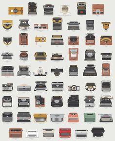 A evoluçao da máquina de escrever