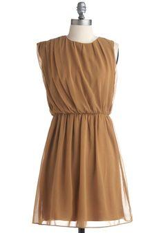 Butterscotch Latte Dress | Mod Retro Vintage Printed Dresses | ModCloth.com