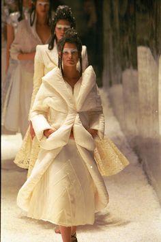 Alexander McQueen Romantic period padded hems