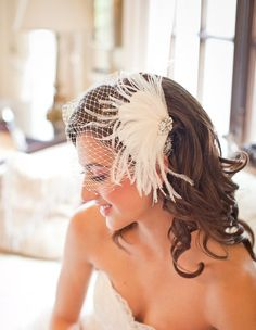Feather Fascinator (named Camille by the Etsy seller)