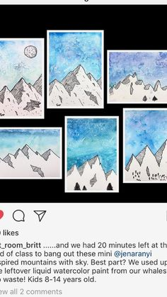 Winter Art Projects For Kids Ideas Student 32 Ideas Middle School Art Projects, Winter Art Projects, 6th Grade Art, Art Lessons Elementary, Art Lesson Plans, Art Classroom, Art Plastique, Teaching Art, Oeuvre D'art