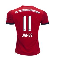 James Rodriguez  11 Men s Bayern Munich Home Jersey 2017-2019 Season -Red ca2fd9563