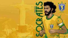 Socrates of Brazil wallpaper.