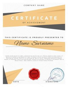 FREE Certificate Design PSD Template Use it to present ...