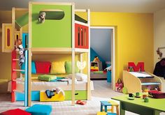 colorful kid rooms