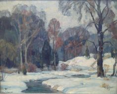 """Winter,"" John Fabian Carlson, oil on board, 9 x 11"", private collection."