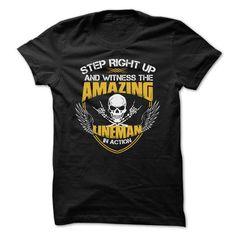 Awesome Lineman Shirt - #housewarming gift #man gift. GET  => https://www.sunfrog.com/Funny/Awesome-Lineman-Shirt-4875280-Guys.html?id=60505