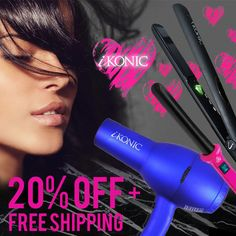 iKonic Precision Styling Tools provides high performance quality products for hair care professionals including Hair Straighteners, Curling Wands and many Styling Tools, Coupon, Coding, Valentines, Free Shipping, Hair Styles, Beauty, Valentine's Day Diy, Hair Plait Styles