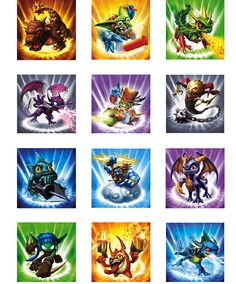 Skylanders Cupcake Topper INSTANT DOWNLOAD, DIY digital printable file on Etsy, $4.00