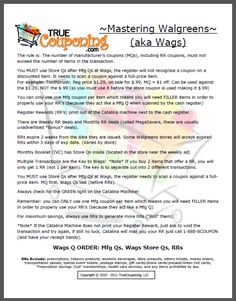 Advanced Couponing Guides to Walgreens and CVS Couponing For Beginners, Couponing 101, Extreme Couponing, Start Couponing, Ways To Save Money, Money Tips, Money Saving Tips, Coupon Queen, Grocery Coupons