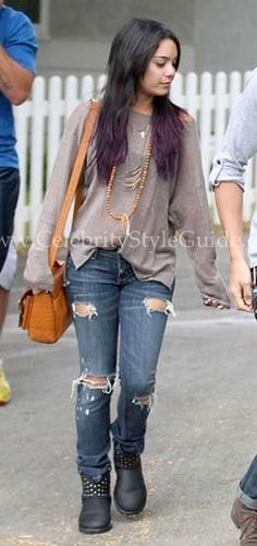 "Vanessa Hudgens wore the Feel The Piece ""Boat Neck Linen"" Sweatshirt in Taupe while out in Studio City with boyfriend Austin Butler in Los Angeles, CA - Friday, June 15, 2012    Read more: http://www.celebritystyleguide.com/i-1-1-12778/celebrities/vanessa-hudgens/feel-the-piece-boat-neck-linen-sweatshirt-in-taupe#ixzz1yBnzap4U"