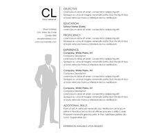 Download this Mr. Gray's Business Suit Resume Template and other free printables from MyScrapNook.com