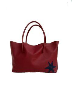 Ledertaschen - Einkaufstasche große Tragetasche Leder handmade - ein Designerstück von Goldtaschen bei DaWanda