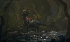 Took an hour off work and did this piece. So this is my interpretation of Sue's death, Sue is the largest specimen of Tyrannosaurus Rex ever found. I was supposed to name this piece 'Sue- fallen qu...